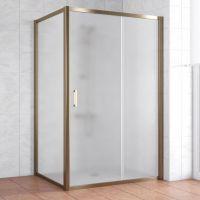 Душевой уголок Vegas Glass ZP+ZPV 140*80 05 10 профиль бронза, стекло сатин