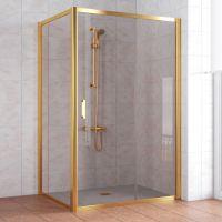 Душевой уголок Vegas Glass ZP+ZPV 140*80 09 05 профиль золото, стекло бронза