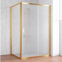 Душевой уголок Vegas Glass ZP+ZPV 140*80 09 10 профиль золото, стекло сатин