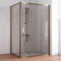 Душевой уголок Vegas Glass ZP+ZPV 140*90 05 05 профиль бронза, стекло бронза