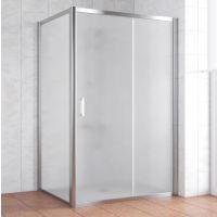 Душевой уголок Vegas Glass ZP+ZPV 140*90 08 10 профиль глянцевый хром, стекло сатин