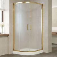 Душевой уголок Vegas Glass ZS 0100 09 10 профиль золото, стекло сатин