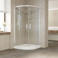 Душевой уголок Vegas Glass ZS 120 01 01 профиль белый, стекло прозрачное