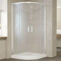 Душевой уголок Vegas Glass ZS 120 01 10 профиль белый, стекло сатин
