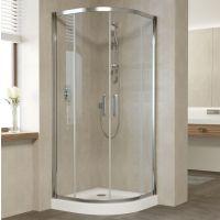Душевой уголок Vegas Glass ZS 80 08 01 профиль глянцевый хром, стекло прозрачное