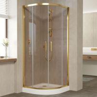 Душевой уголок Vegas Glass ZS 80 09 05 профиль золото, стекло бронза