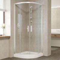 Душевой уголок Vegas Glass ZS 90 01 01 профиль белый, стекло прозрачное