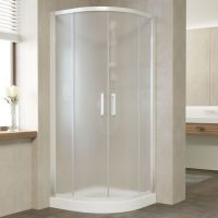 Душевой уголок Vegas Glass ZS 90 01 10 профиль белый, стекло сатин