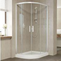 Душевой уголок Vegas Glass ZS-F 100*90 01 01 профиль белый, стекло прозрачное