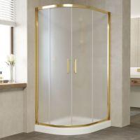 Душевой уголок Vegas Glass ZS-F 100*90 09 10 профиль золото, стекло сатин