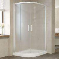 Душевой уголок Vegas Glass ZS-F 110*80 01 10 профиль белый, стекло сатин