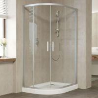 Душевой уголок Vegas Glass ZS-F 110*80 07 01 профиль матовый хром, стекло прозрачное