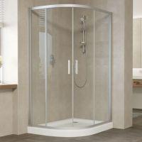 Душевой уголок Vegas Glass ZS-F 120*80 07 01 профиль матовый хром, стекло прозрачное