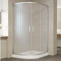 Душевой уголок Vegas Glass ZS-F 120*90 07 10 профиль матовый хром, стекло сатин