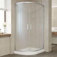 Душевой уголок Vegas Glass ZS-F 90*80 07 10 профиль матовый хром, стекло сатин