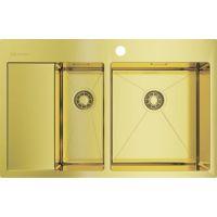 Мойка кухонная Omoikiri Akisame 78-2-LG-R светлое золото