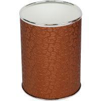 Мусорное ведро Geralis M-FCH-B шоколад, хром, 3 л