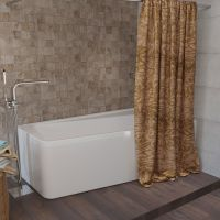 Штора для ванной Aima Design У37612 200x240, двойная, бежевая