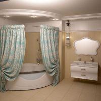 Штора для ванной Aima Design У37612 200x240, двойная, бирюзовая