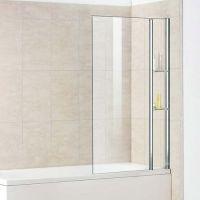 Шторка на ванну RGW Screens SC-54 800x1500 с полками, стекло чистое