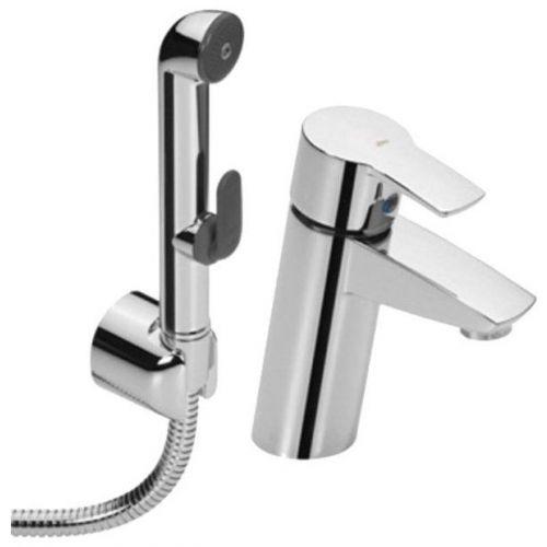 Смеситель Oras Cubista 2812F для раковины с гигиеническим душем