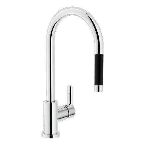 AB87137/1CR ABC смеситель для кухни с вытяжным изливом
