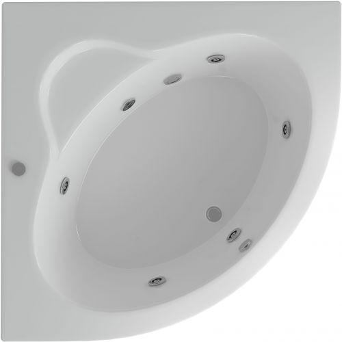 Акриловая ванна Акватек Калипсо с гидромассажем и экраном