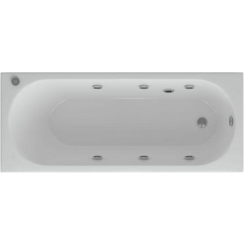 Акриловая ванна Акватек Оберон 170 с гидромассажем и экраном