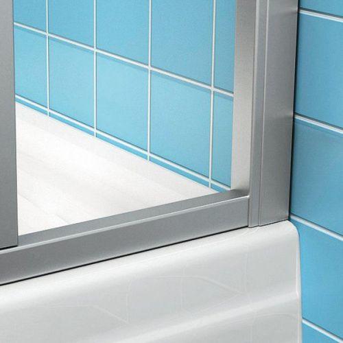 Душевая дверь в нишу Ravak ASDP3-100 Transparent, профиль белый