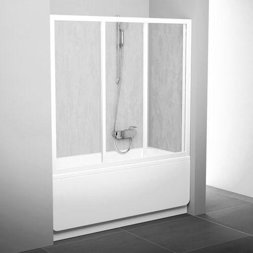 Шторка на ванну Ravak AVDP3-160 Transparent, профиль белый