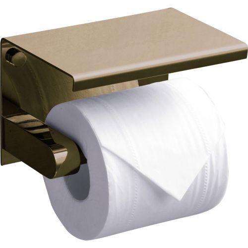 Держатель туалетной бумаги Rush Edge ED77141 Bronze с полкой для телефона