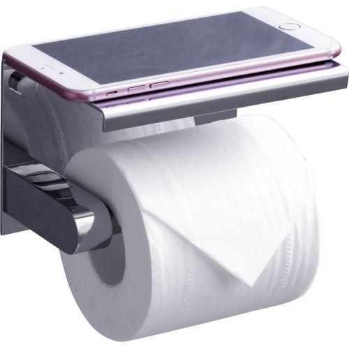 Держатель туалетной бумаги Rush Edge ED77141 Chrome с полкой для телефона