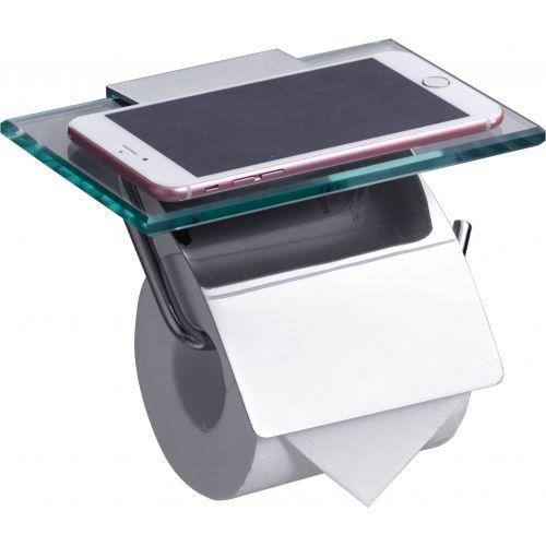 Держатель туалетной бумаги Rush Edge ED77131 с полкой для телефона