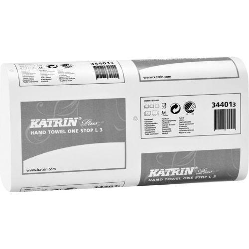 Бумажные полотенца Katrin Plus One Stop L3 34401 (Блок: 21 уп. по 90 шт.)