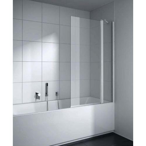 CADA XS CK DTR 09014 VPK Шторка на ванну (маятник.дверь с неподв.сегментом), крепление справа, H=1400, L=900, стекло прозр. ESG Clean