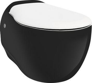 Чаша для унитаза подвесного ArtCeram Blend BLV001 черная с белым