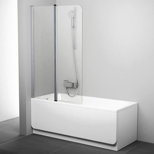 Шторка на ванну Ravak CVS2-100 L Transparent, профиль сатин