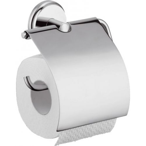 Держатель туалетной бумаги Hansgrohe Logis Classic с крышкой