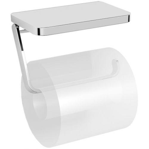 Держатель туалетной бумаги Langberger 35041B с полкой для телефона