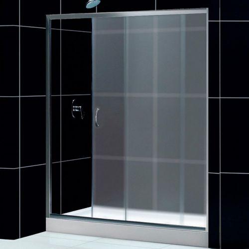 Душевая дверь в нишу RGW Passage PA-12 (1000x1040)x1950 профиль хром, стекло матовое