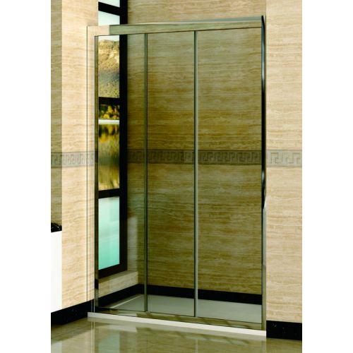 Душевая дверь в нишу RGW Classic CL-11 (1360-1410)х1850 профиль хром, стекло прозрачное