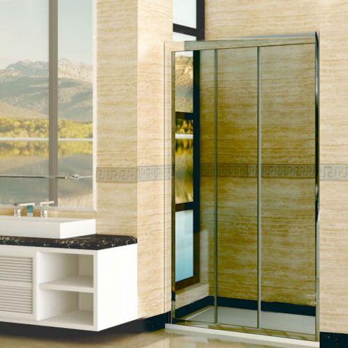 Душевая дверь в нишу RGW Classic CL-11 (860-910)x1850 профиль хром, стекло шиншилла
