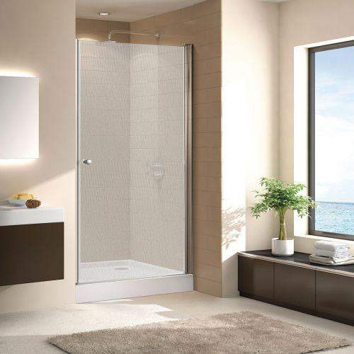 Душевая дверь в нишу Cezares ECO-O-B-1-90-P-Cr стекло punto