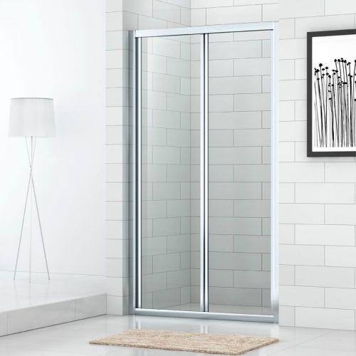 Душевая дверь в нишу Cezares ECO-O-BS-90-C-Cr стекло прозрачное