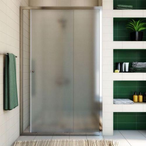 Душевая дверь в нишу GuteWetter Guwer GK-662D 110 см стекло матовое, профиль хром
