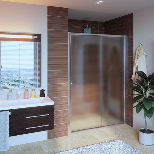Душевая дверь в нишу GuteWetter Guwer GK-662D 120 см стекло матовое, профиль хром