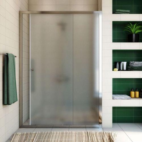 Душевая дверь в нишу GuteWetter Guwer GK-662D 130 см стекло матовое, профиль хром