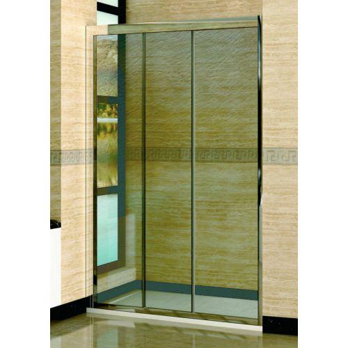 Душевая дверь в нишу RGW Classic CL-11 (1360-1410)х1850 профиль хром, стекло шиншила