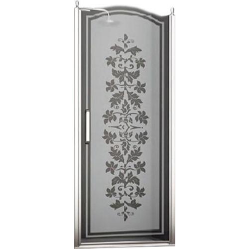 Душевая дверь в нишу Sturm Schick 80 см L decor chrome