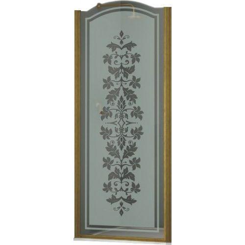Душевая дверь в нишу Sturm Schick 90 см decor bronze L